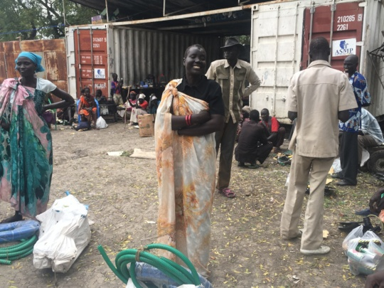 Distributing seeds and tools to small family farms