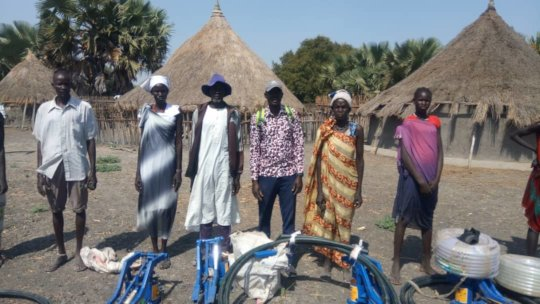 Foot pumps to help farming.