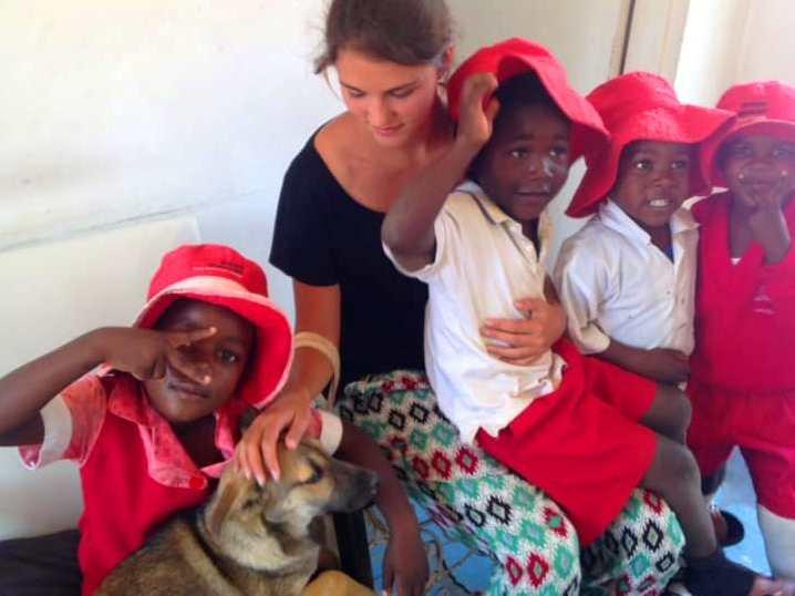 Bongai children meet our little ambassador Bingo