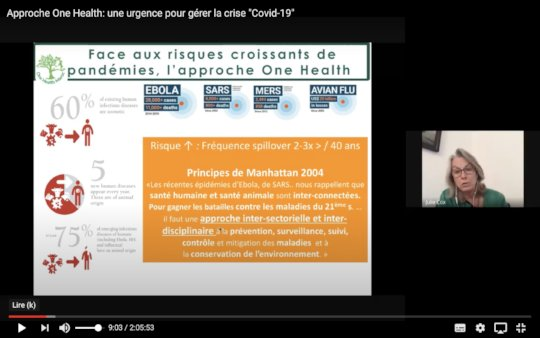 One Health webinar with project leader