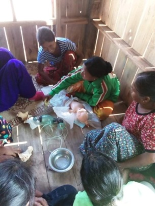 Local trainers deliver course to women in villages