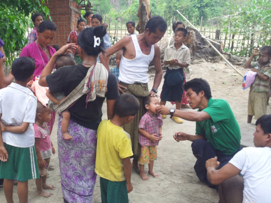 CHWs serving villagers in Rakhine State