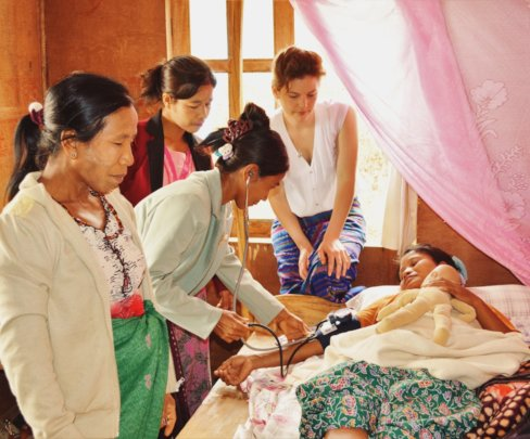 Overseeing training: Traditional Birth Attendants