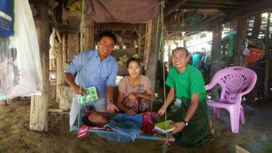 Dr Sasa, Ma Thwin Hlaing & Mr Kyaw Naing (CHW)