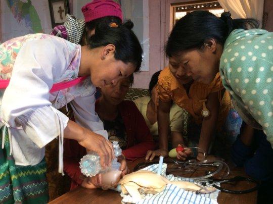 Practising new-born resuscitation