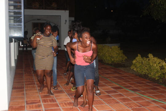 Beneficiaries having fun while learning as a team!