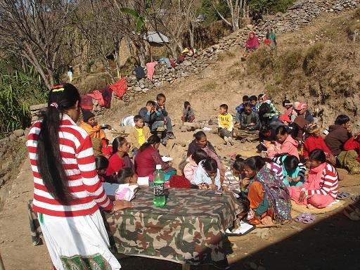 Meeting the Village Children