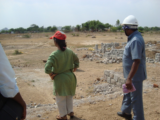 Dr.Sunitha Krishnan at the site overseeing Marking