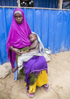 Aayan (28) with her son Aadan (3)