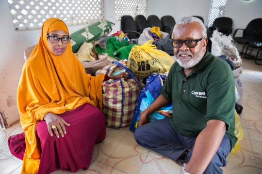 Concern staff Hawa Wehliye and Ibrahim Ambar