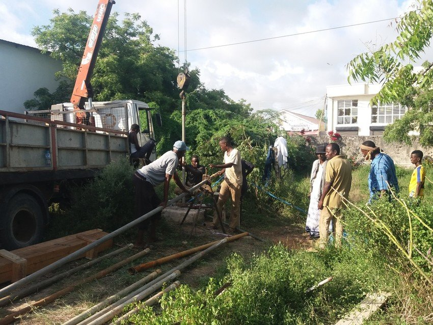 Concern crew working to restore water