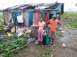 Displaced Family in Haiti after Hurricane Matthew