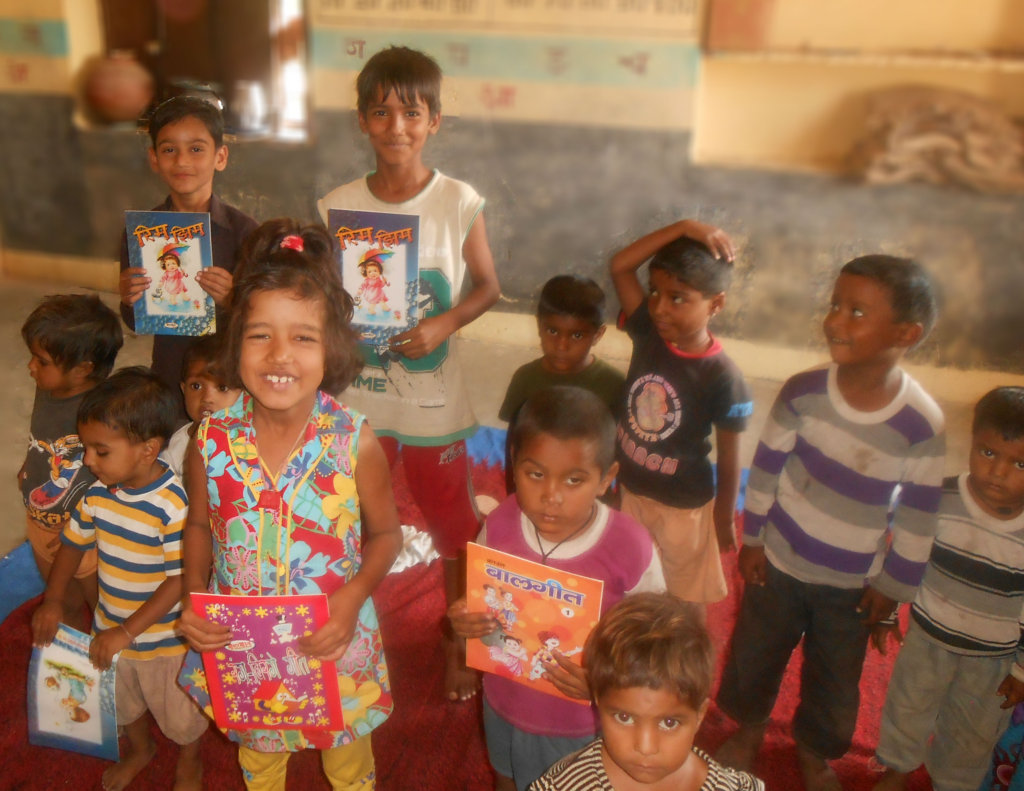 Give Education Materials To School Child in India