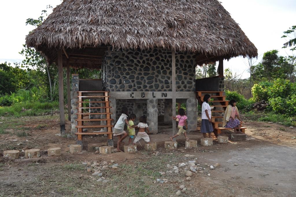 Bathrooms at the village school.