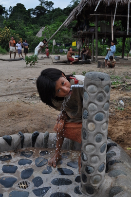 Susana will now grow up with clean water directly at her home.