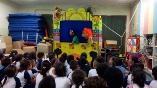 Any space is a good place for puppet theatre!