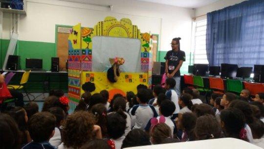 Puppet theatre at Atila Elementary School