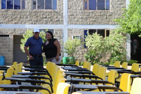 Desks arrive to our school in El Pozon