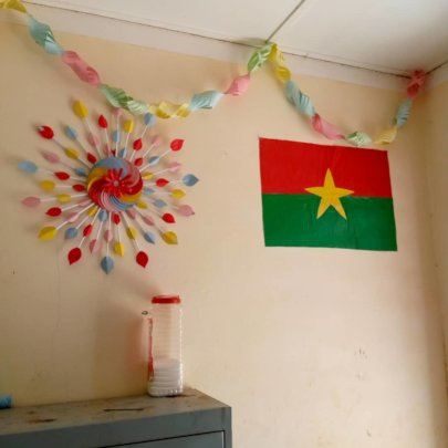 Decoration made by the teacher