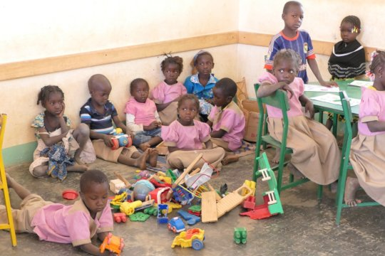 Kids in the play corner