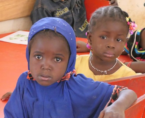 2 young girls at the nursery school