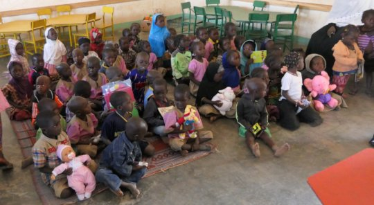 Children from Nefrelaye in class