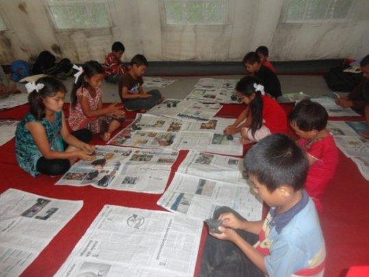 Children at the Gorkha Transit Home