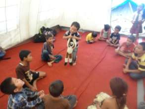 Young children at a counseling session