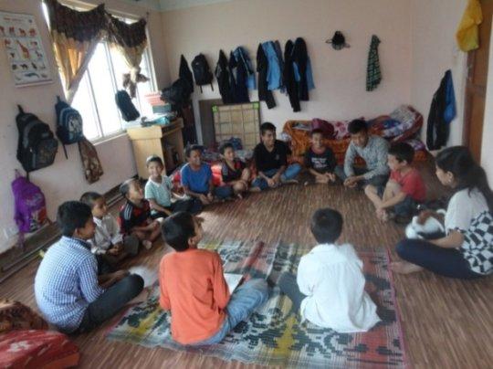 Gorkha Transit Center counseling session