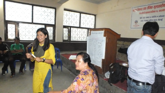 JHF volunteer guiding the class