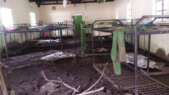 School dormitory destroyed by landslide