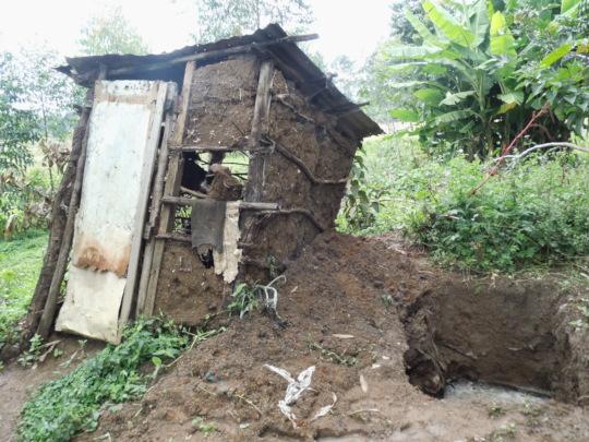 Damage after the flood