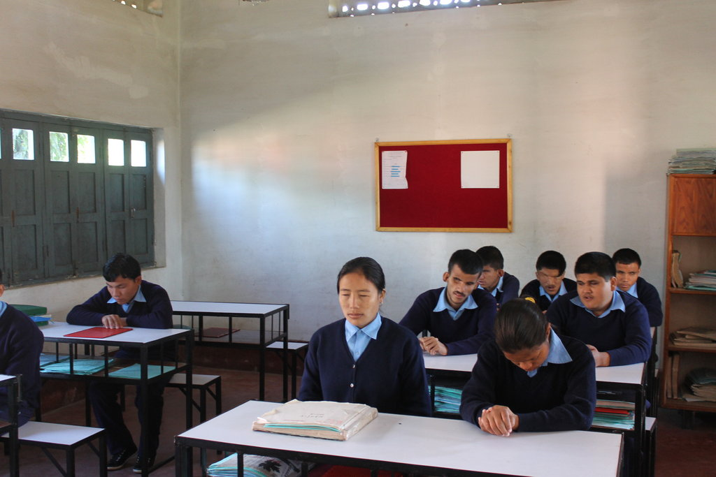 Blind students in the Disabled Scholarship Program
