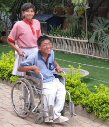 Student in disabled school program