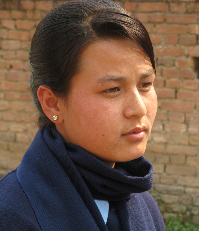 One of the best students at the Kathmandu School for the Deaf