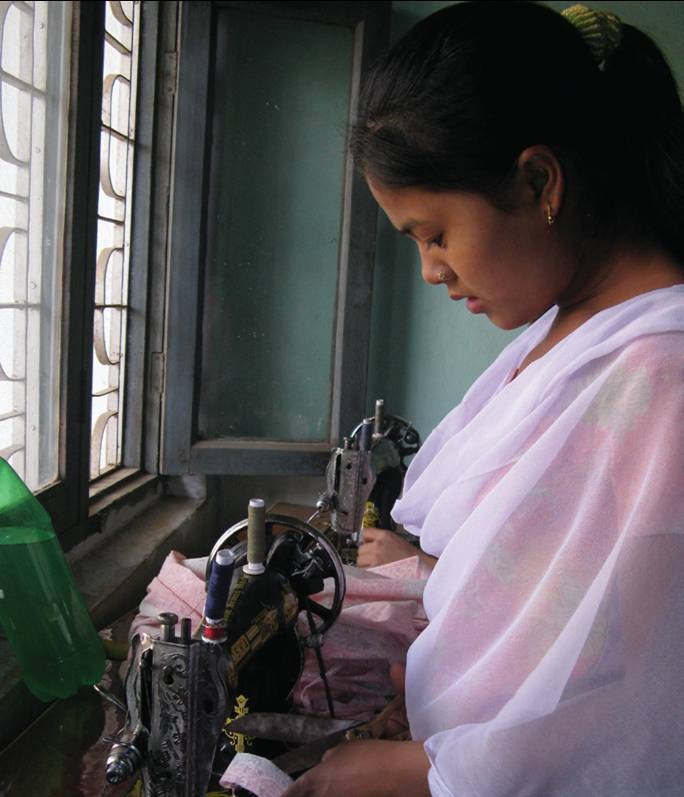Learning how to sew as well as how to support herself