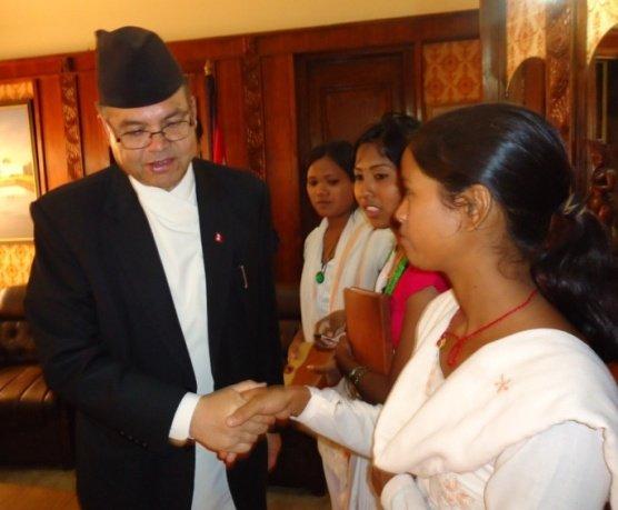 FKDF Delegate Meeting Nepal Prime Minister 2011