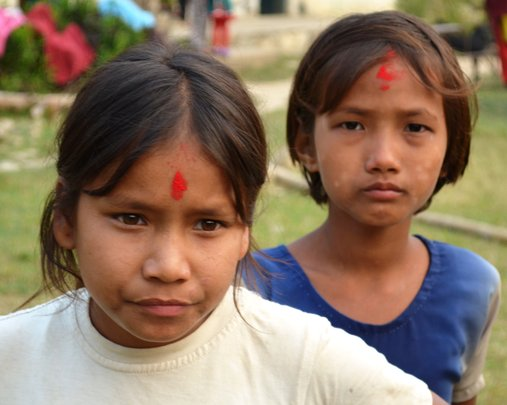 Two young freed Kamlari