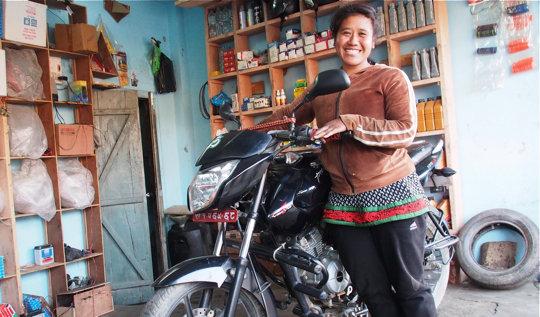 Former Kamlari Kamala now owns her own repair shop
