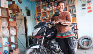 Former Kamlari Kamala now owns her own repair shop