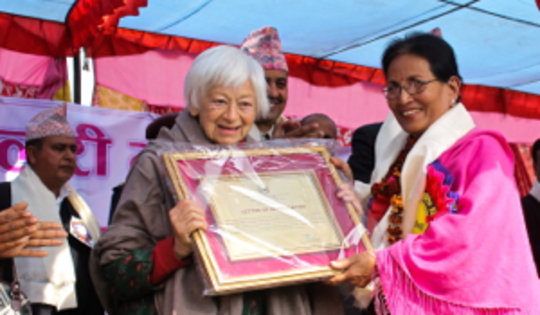 Olga Murray honored at Kamlari Freedom Day