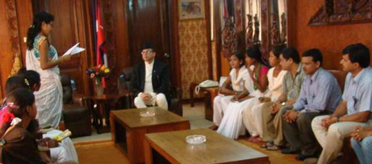 Former servants meet with the Prime Minister