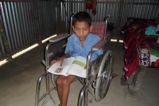 Ranjan is Wheel Chair User Children