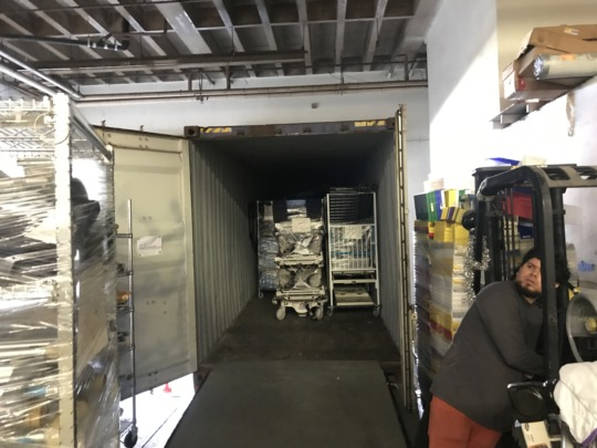 Container being loaded at the VIDA USA warehouse.