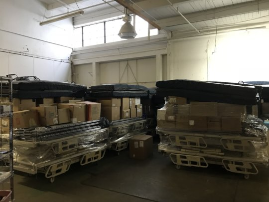 Hospital Beds Bound for Peru