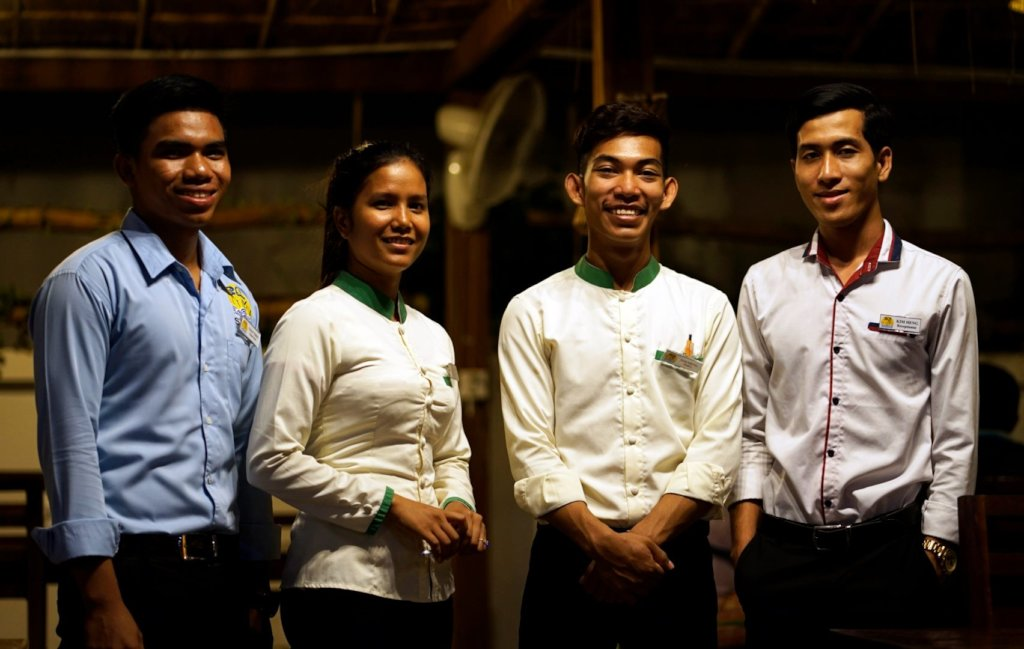 LE Tonle Students now employed in our guesthouse