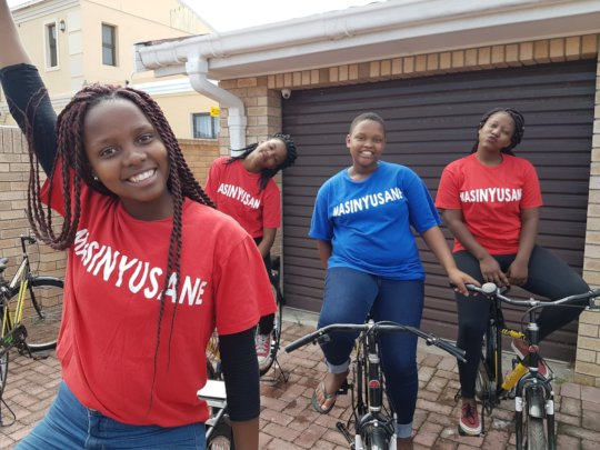 Girls in the House Learn to Ride the Bikes