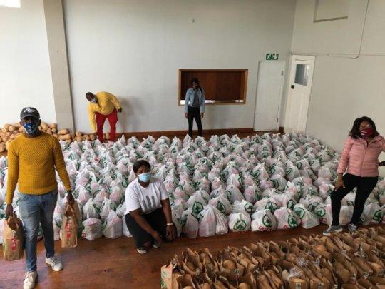 Team Preparing Food Parcels