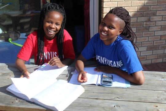 Sisipho & Yonela Studying