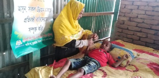 Therapist Provide Therapy service in the camp